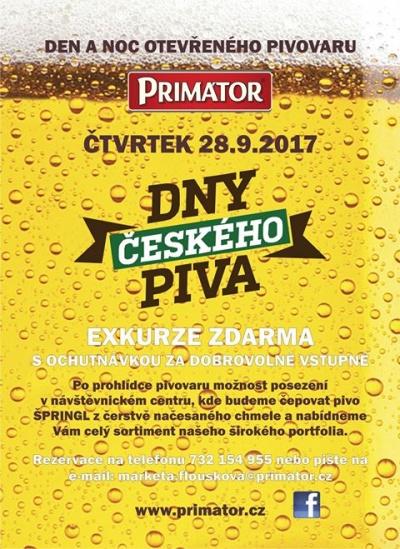 Den a noc otevřeného pivovaru PRIMÁTOR 2017