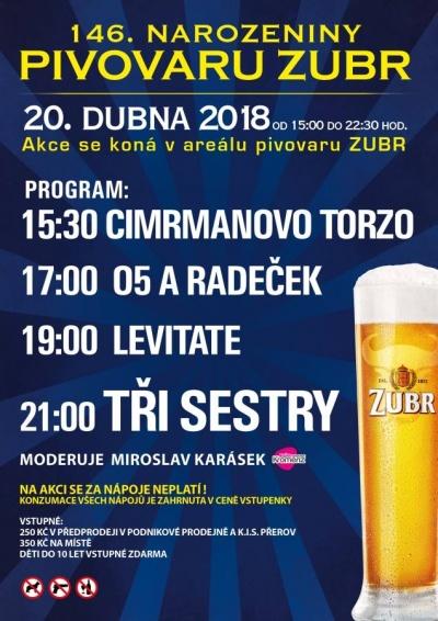 146. narozeniny pivovaru ZUBR 2018