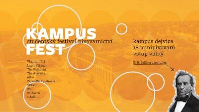 Studentský festival pivovarnictví - Kampus Fest 2018