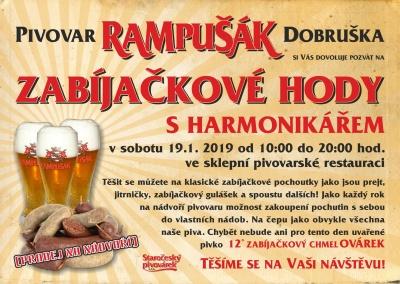 Zabíjačkové hody 2019 - pivovar Dobruška