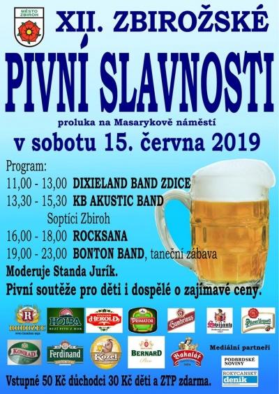 XII. zbirožské pivní slavnosti 2019