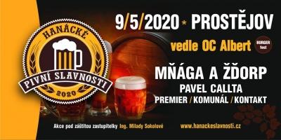 Hanácké pivní slavnosti 2020 - přesunuto