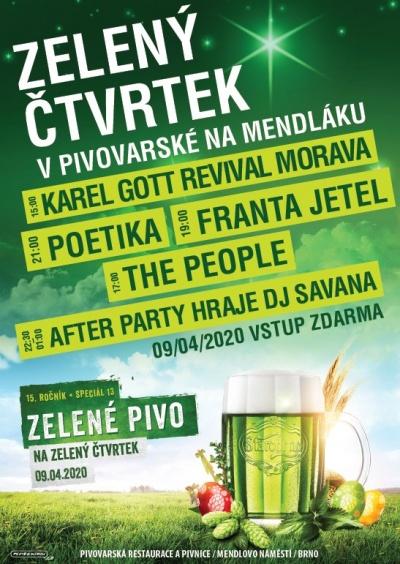 Zelený čtvrtek v Pivovarské na Mendláku 2020