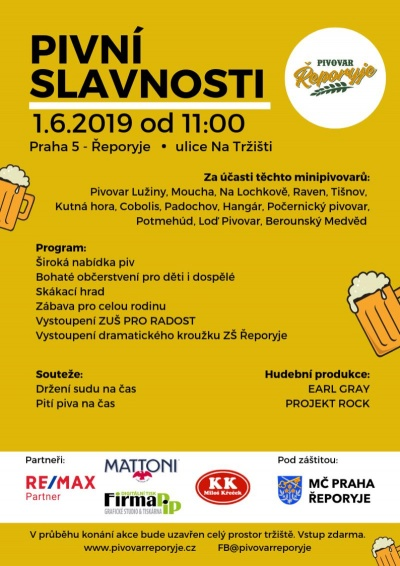 Pivní slavnosti 2019 - Pivovar Řeporyje
