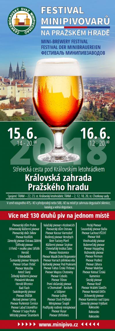 Festival minipivovarů na Pražském hradě 2018
